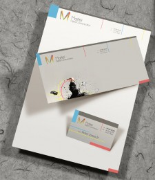 Mattei Digital Communication – Letterhead, Envelope, Business Card